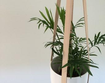Hanging Leather Planter - 65cm