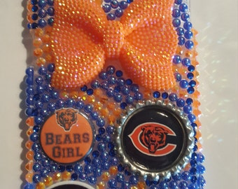 Bling Chicago Bears Samsung Galaxy S6 Case