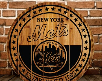 New York Mets Rustic Sign - Buy One - Get One - FREE (Promo Ends Today)