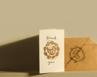 Five Bird Design 'Thank You' Notelets with Origami Envelopes