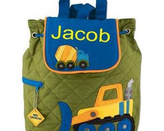 Personalized Stephen Joseph Backpack/ Construction Backpack/ FREE MONOGRAM