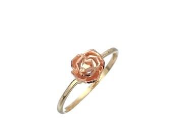 14k yellow/rose gold flower ring
