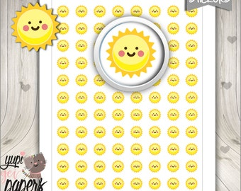 50%OFF - Sun Stickers, Planner Stickers, Sunny Stickers, Tracking Weather, Planner Accessories, Sunny Days, Digital Stickers