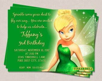 Tinkerbell Birthday Invitation - Tinkerbell - Tinkerbell Party - Kids Invitation - Girls Invitation - Printable DIY - Digital Invitation,