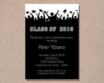Graduation Party Invitation - Graduation Announcement - Printable Graduation Party Invitation