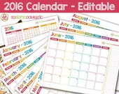 2016 Printable Calendar -...
