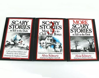 3 Book Set: SCARY STORIES to Tell in the Dark by Alvin Schwartz Box HALLOWEEN!!