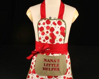 Girls personalised aprons