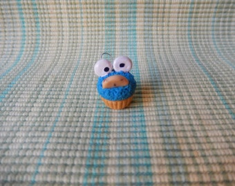 Inspired Polymer Clay Cookie Monster, Elmo charm/ keychain