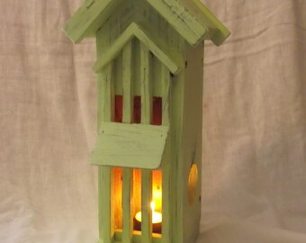 Hand Painted Tea Light Candle  House