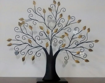 Personalized Metal Family Tree - Tabletop or Wall Hanging - Great Gift for Anniversaries, Weddings, Birthdays, and Mother's or Father's Day!