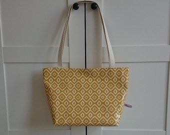 PVC Tote Bag in Saffron Nazca Design