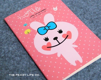 Sweet Bunny Friend Notebook 80 Sheets