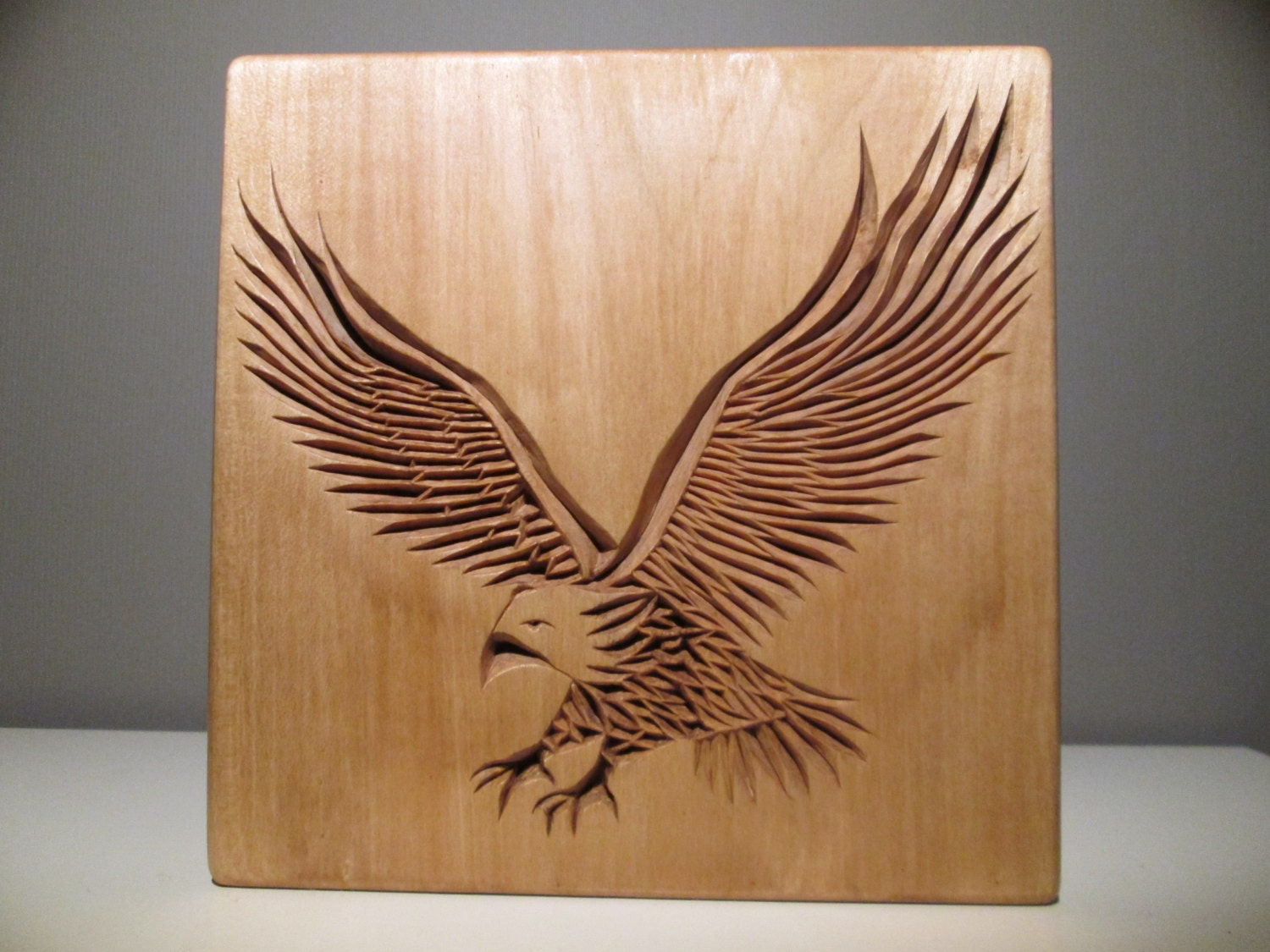 Eagle carved chip carving wood wooden