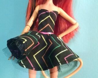 Chevron Monster High doll dress