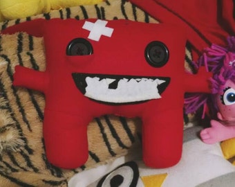 Super Meat Boy Plushie Inspired by the Video Game.