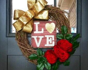 Love Grapevine Wreath
