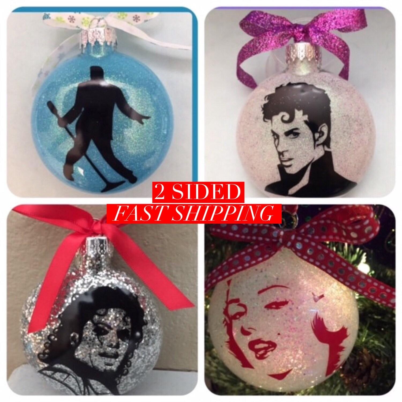 Marilyn monroe ornaments - Elvis Prince Ornament Michael Jackson Marilyn Monroe Ornaments Glass Ornaments