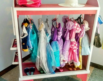 Awesome dress up station, armoire, storage, solid wood, reinforced construction, lots of storage for all your superheroes and princesses