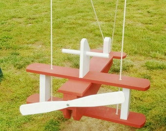 Super Awesome Wooden Airplane Swing
