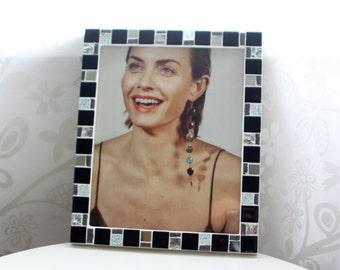 8x10 frame - Mosaic photo frame - Black frame - Photo frame 8x10 - Picture frame 8x10 - Modern frame - Black frames - Mosaic