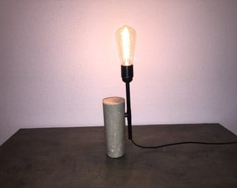 Lamp in concrete and model copper tube