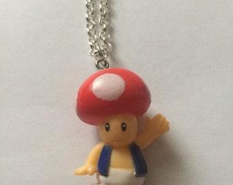 Toad Super Mario Necklace