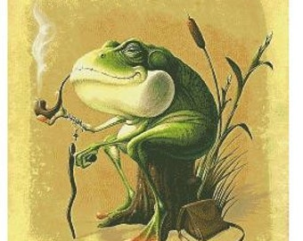 Old Man Frog, cross stitch PDF patern