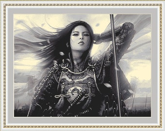 Women Warrior, Cross Stitch Pattern in PDF for Instant Download