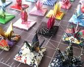 Tiny Origami Crane with Menko