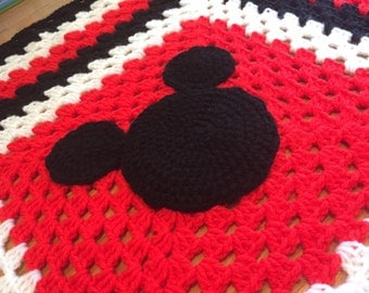Disney Minnie Mouse or Mickey Mouse character medium pram blankets