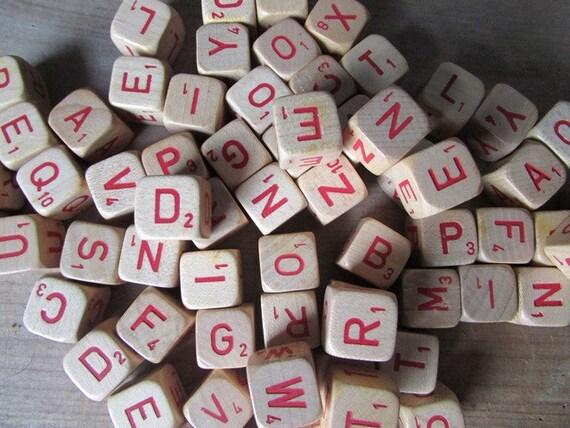 15 Scrabble Crossword Cubes Vintage Game Pieces Letter Game