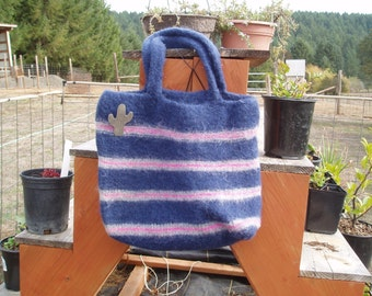 Handknit, Felted Large Bag