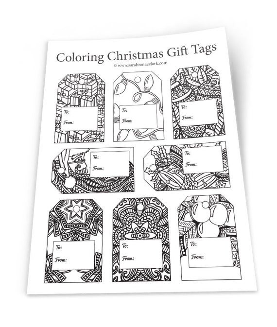 Printable Coloring Christmas Gift Tags