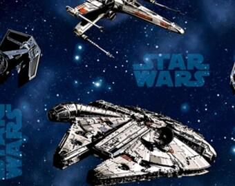 Star Wars Millennium Falcon Spaceships fabric, movie fabric, spaceship fabric, novelty fabric, Star Wars fabric