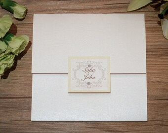 Fairytale Wedding Invitations, Enchanted Wedding Invitations, Vintage Wedding Invitations, Fairytale wedding Invitation, Vintage Invitations