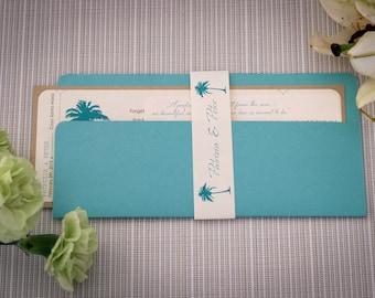 Boarding pass, Boarding pass wedding invitation, Turquoise wedding invitation, Boarding pass invite, Destination wedding invitation,handmade