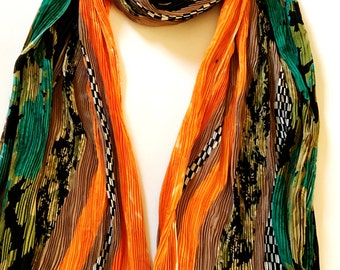 Georgette Scarf; Handmade, Indian Dupatta, Summer, Trendy, Colourful, Shaded, Long Scarf