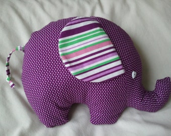 Handmade Elephant in stripes and spots