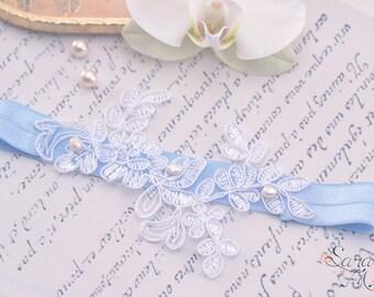 Garter bride Anna-Belle-Garter-bijoux leg garter lace-pearls