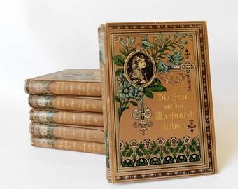 Antique 1908 Novels by E. Marlitt Eugenie JOHN Volume 1-6 Art Nouveau German