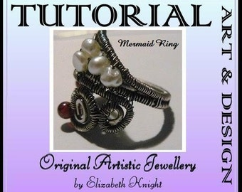 Mermaid Ring Step-by-Step Tutorial Wire Wrapping Instant Download