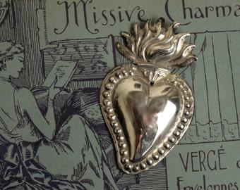 Italian ex-voto. Sacred heart.