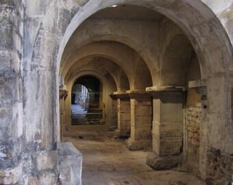 Roman Baths Architecture Photo, Bath, England, Arches, English Travel Photography