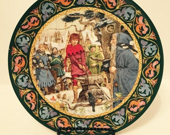 Vintage Wedgwood Collector Plate 'Arthur Draws The Sword'