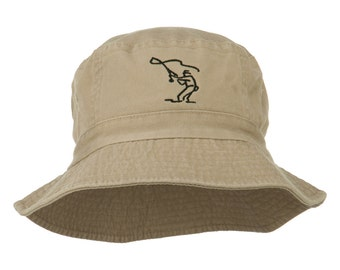 Fly Fishing Outline Bucket Hat