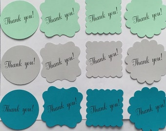 Favor Tags - Thank you - Set of 25