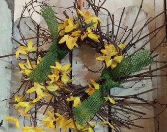 Spring Yellow Flower Wreath