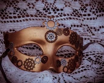 Bronze Steampunk Masquerade Mask!