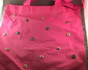 Decorative pink  tote bag